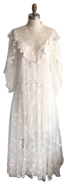 Chloé Ivory Lace Long Casual Maxi Dress Size 6 (S) Chloé Ivory Lace Long Casual Maxi Dress Size 6 (S) Image 1