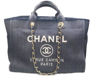 Chanel Tote in Navy, Blue, Gold