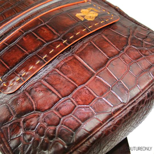 Aligatori Leather Croc Travel Unisex Leather Backpack Image 2