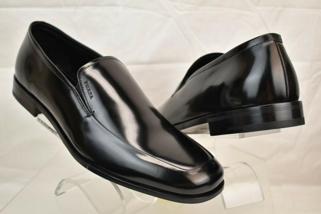 Item - Black Uomo Patent Leather Lettering Logo Loafers 8 Us 9 Italy Shoes