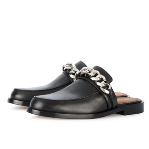 Givenchy Leather Silver Chain Leahter black Mules