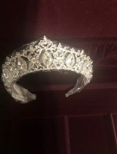 David's Bridal Silver Regal Tiara