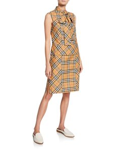 Burberry short dress YELLOW PATTERN on Tradesy