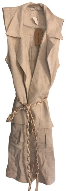 Item - Oatmeal Off White Tunic Vest Size 4 (S)