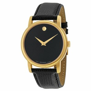 Movado Museum Black Dial 38mm Stainless Steel 2100005 Swiss Made Quartz