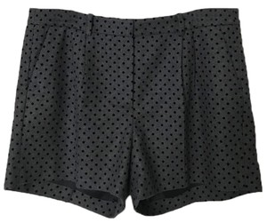 Brooks Brothers Polka Dot Velvet Wool Pleated Dress Shorts Gray