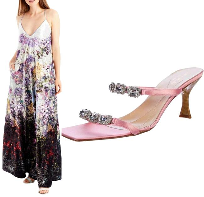 Nicole Miller Velvet Multi New Yorkcrushed Floral-print Maxi Long Night Out Dress Size 4 (S) Nicole Miller Velvet Multi New Yorkcrushed Floral-print Maxi Long Night Out Dress Size 4 (S) Image 1