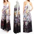 Nicole Miller Velvet Multi New Yorkcrushed Floral-print Maxi Long Night Out Dress Size 4 (S) Nicole Miller Velvet Multi New Yorkcrushed Floral-print Maxi Long Night Out Dress Size 4 (S) Image 3