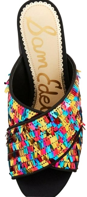 Item - Multicolor Stanley Crisscross Pinata Sequin Sandals Size US 9 Regular (M, B)