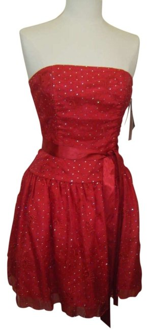 Preload https://img-static.tradesy.com/item/256466/jessica-mcclintock-red-w-sparkle-organdy-sequins-embroidery-knee-length-cocktail-dress-size-8-m-0-0-650-650.jpg