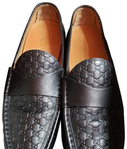Gucci Women Loafers Loafers 41us Leather Loafer Woman10.5us Nero Black Flats