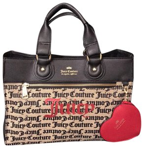 Juicy Couture Satchel in navy blue and beige