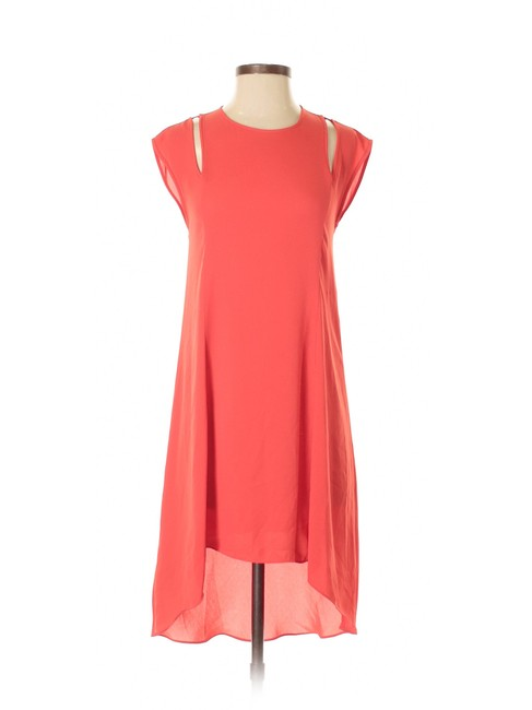 Item - Red Stacey Woven Cutout Bright Poppy Mid-length Cocktail Dress Size 00 (XXS)
