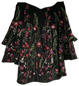 Red Carter short dress Black Floral A-line Mini on Tradesy