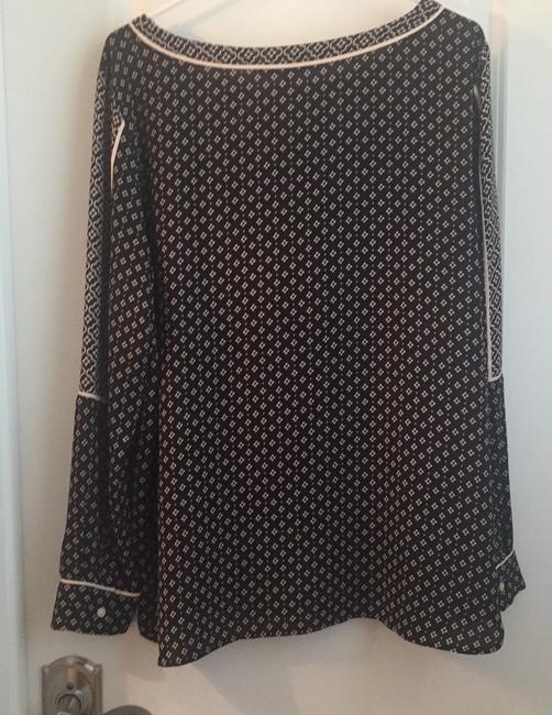 Ann Taylor LOFT Top Black and Cream Image 4