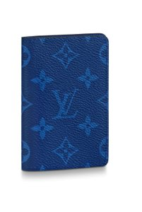 Louis Vuitton LV Monogram Cobalt Blue Pocket Organizer Taigarama Leather