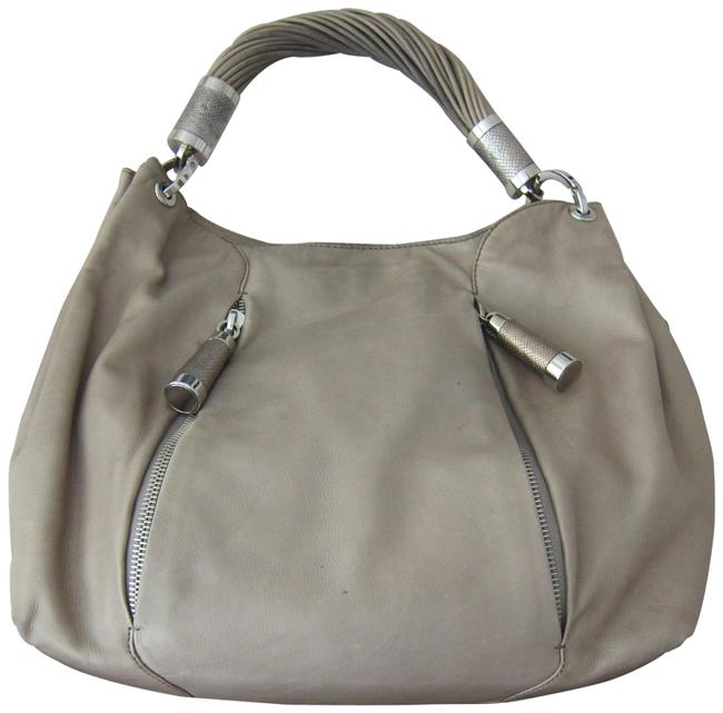 Item - Zippers Taupe Leather Hobo Bag