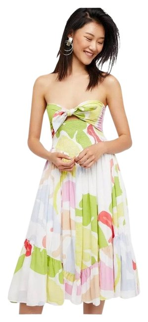 Item - Pink Yellow Pastel Color Dylan Long Night Out Dress Size 4 (S)
