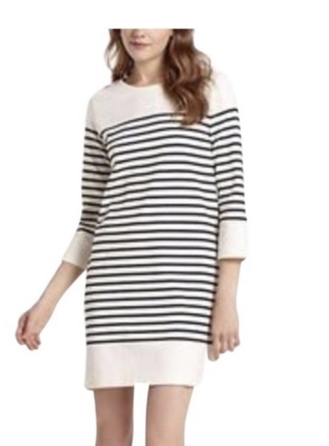 Item - Blue and White Nautical Striped Short Casual Dress Size 4 (S)