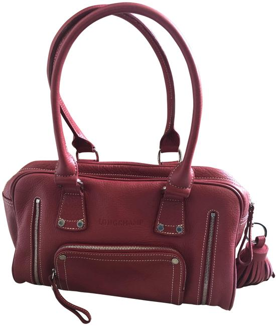 Item - Pebbled Red Leather Satchel