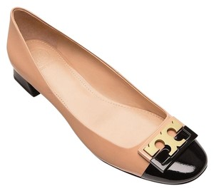 Tory Burch Leather Beige and Black Pumps