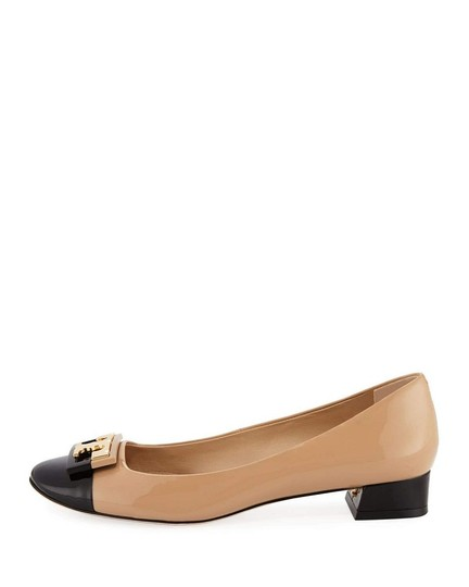 Tory Burch Leather Beige and Black Pumps Image 1