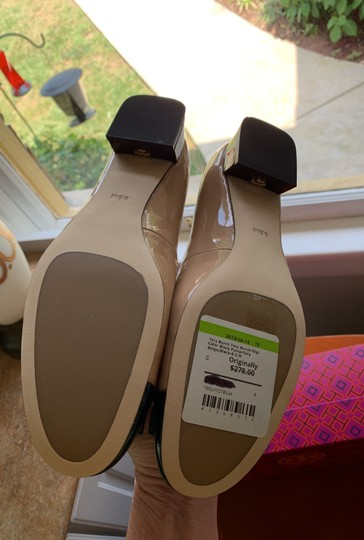 Tory Burch Leather Beige and Black Pumps Image 4