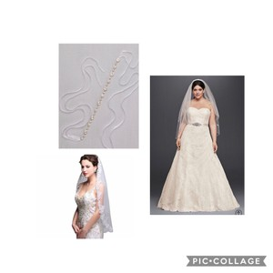 David's Bridal Ivory Lace Gown Traditional Wedding Dress Size 20 (Plus 1x)