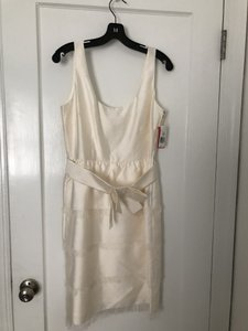 Kate Spade Ivory Silk Belles Collection Traditional Bridesmaid/Mob Dress Size 6 (S)