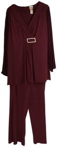 Candlelight and Champagne Candlelight and Champagne 24W Pant Suit Burgundy