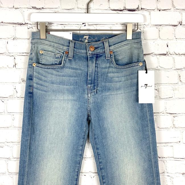 7 For All Mankind Trouser/Wide Leg Jeans-Light Wash Image 4