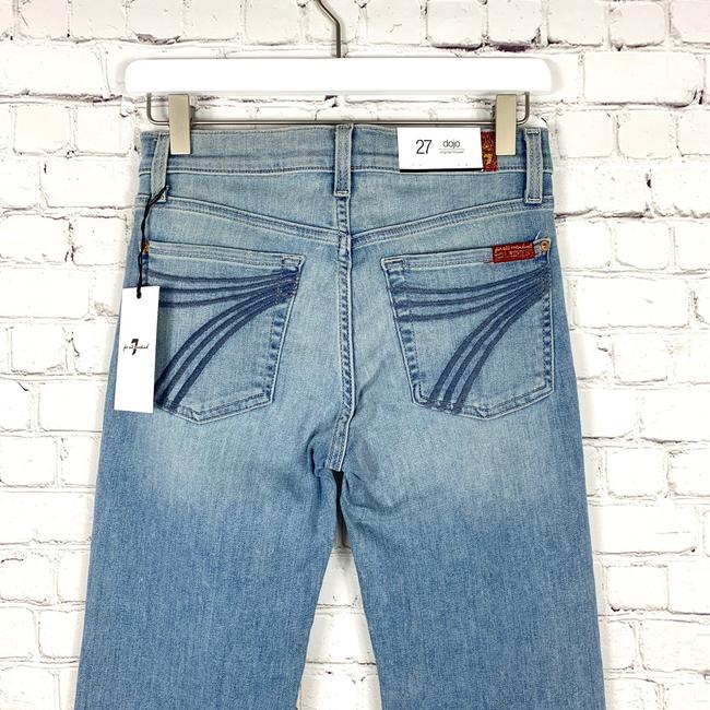 7 For All Mankind Trouser/Wide Leg Jeans-Light Wash Image 6