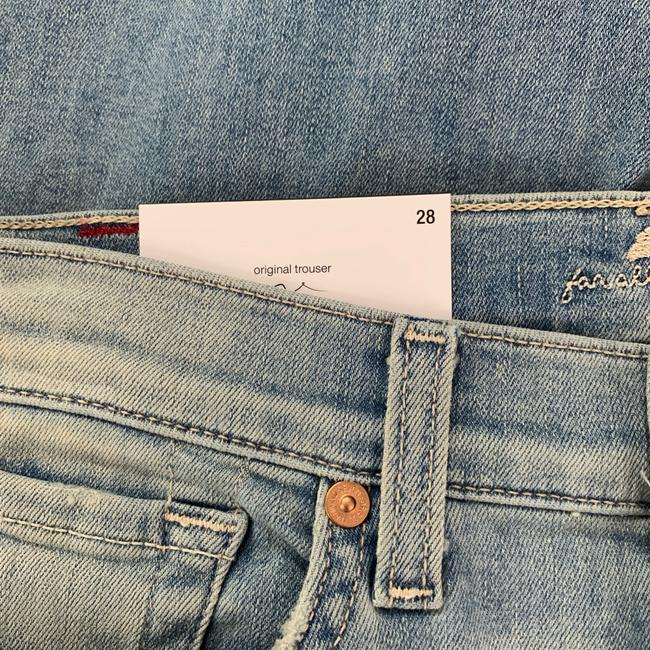 7 For All Mankind Trouser/Wide Leg Jeans-Light Wash Image 7