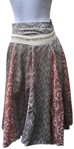 Rene Ruiz Skirt Grey / Taupe