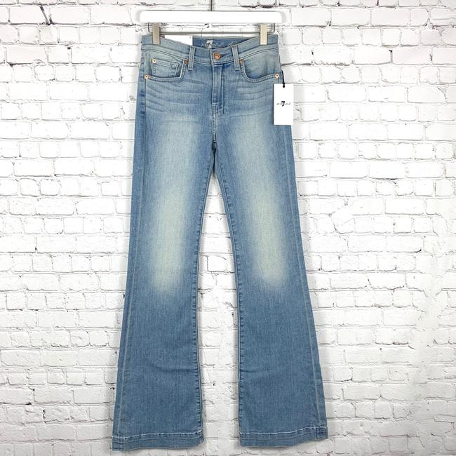 7 For All Mankind Trouser/Wide Leg Jeans-Light Wash Image 5