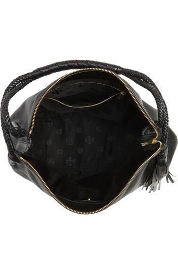 Tory Burch Taylor Leather Pebbled Hobo Bag Image 3