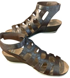 Dansko Metallic Pewter Sandals