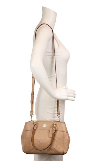Coach Carryall 34797 36704 Christie Satchel in Beige Image 11