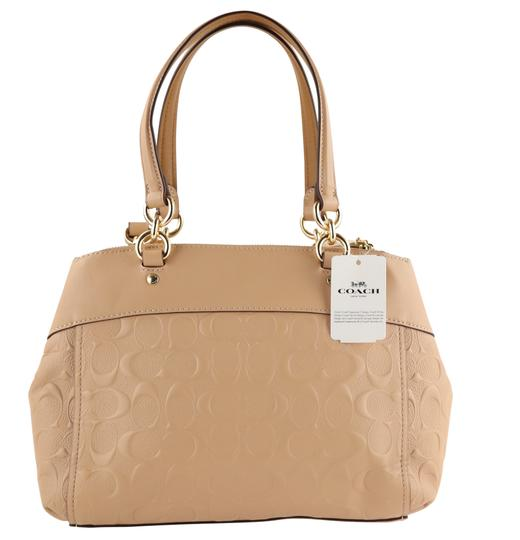 Coach Carryall 34797 36704 Christie Satchel in Beige Image 2