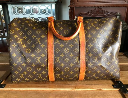 Louis Vuitton 50 Lv Bandouliere 55 Wallet Brown Monogram Travel Bag Image 1