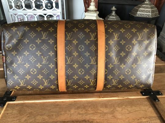 Louis Vuitton 50 Lv Bandouliere 55 Wallet Brown Monogram Travel Bag Image 4