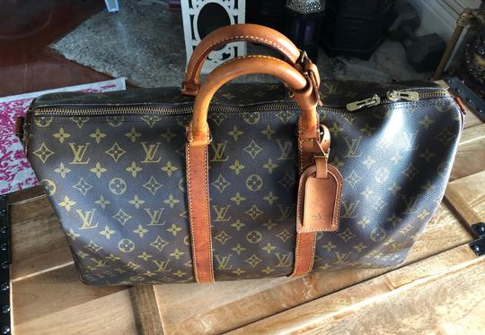 Louis Vuitton 50 Lv Bandouliere 55 Wallet Brown Monogram Travel Bag Image 9