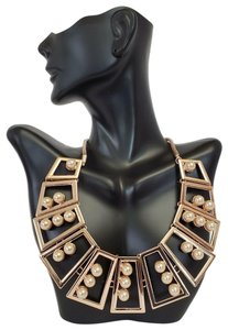 INC International Concepts Inc International Concepts Geometric Statement Necklace Rose Gold Both