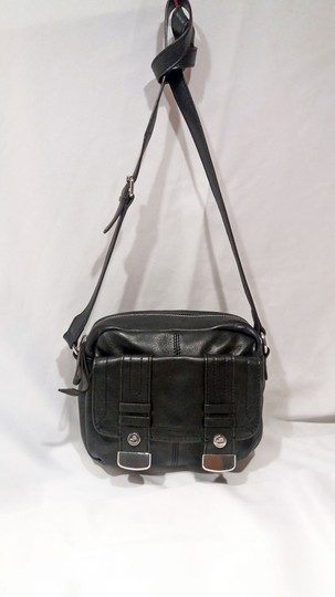 B. Makowsky Glove Leather Silver Hardware Double Stitching Metal Zippers Leather Pull-ties Cross Body Bag Image 6