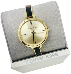 Michael Kors NEW Jaryn Three-Hand Gold-Tone Stainless Steel Watch MK4341