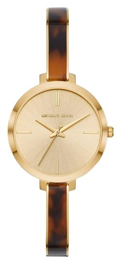 Michael Kors NEW Jaryn Three-Hand Gold-Tone Stainless Steel Watch MK4341 Image 1