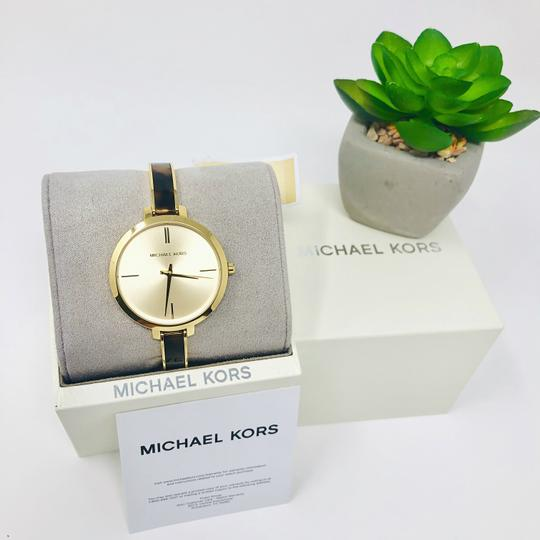 Michael Kors NEW Jaryn Three-Hand Gold-Tone Stainless Steel Watch MK4341 Image 3