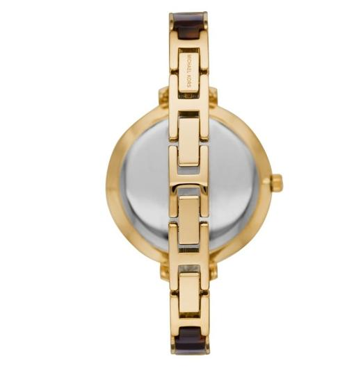 Michael Kors NEW Jaryn Three-Hand Gold-Tone Stainless Steel Watch MK4341 Image 8