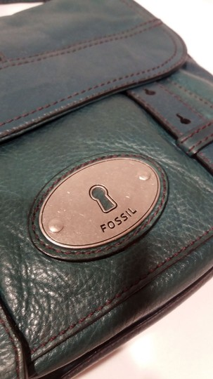 Fossil Thick Leather Charm Messenger Style Nickel Shoulder Bag Image 7