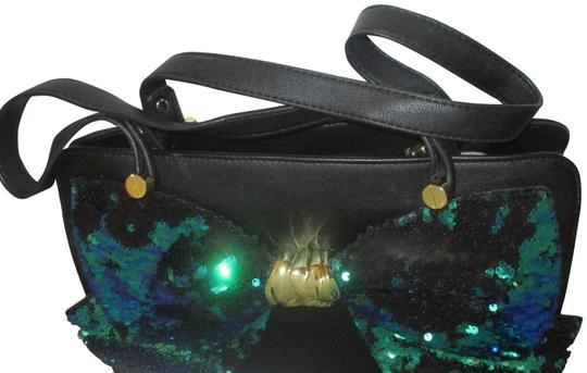 Preload https://img-static.tradesy.com/item/25649535/betsey-johnson-multi-color-sequin-large-bow-black-faux-leather-satchel-0-1-540-540.jpg